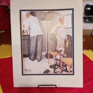 Norman Rockwell,  Before the Shot Print,